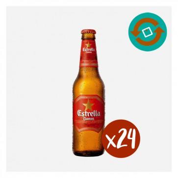 Estrella Damm (Caixa 24 x 0'33L) Retornable