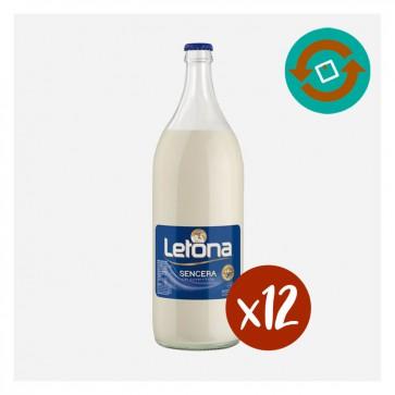 Llet Letona Sencera (Caixa 12 x 1 L) Retornable
